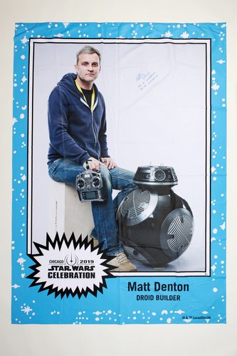 Matt Denton 5' X 7' Autographed 1-of-1 Banner from 2019 Star Wars Celebration