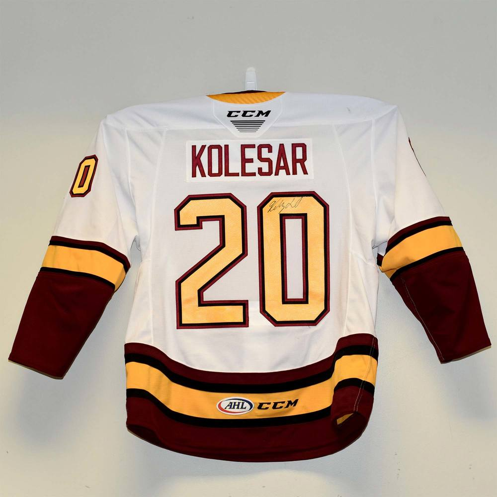 Chicago Wolves 2019 Calder Cup Finals Game 1 Jersey Worn and Signed by #20 Keegan Kolesar