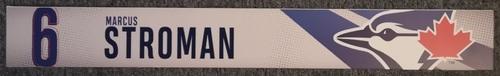 Photo of Authenticated Game Used Locker Name Plate: #6 Marcus Stroman (2019 Regular Season)