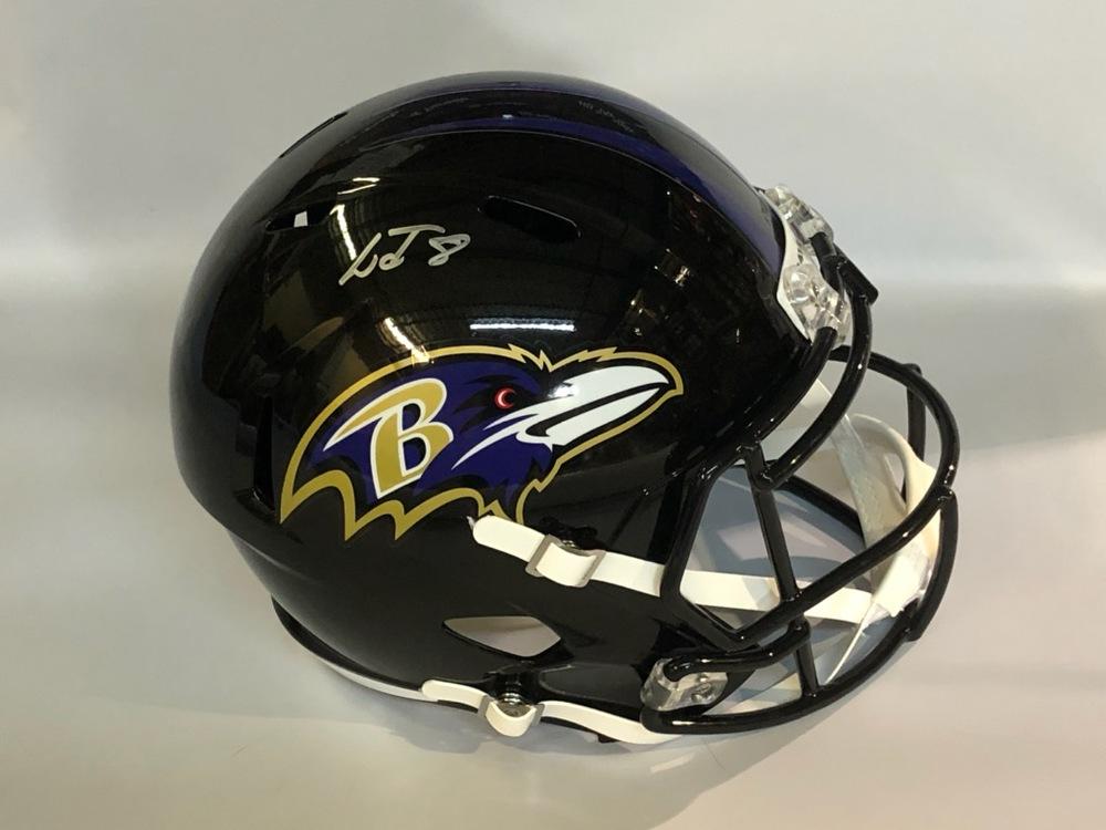 Lamar Jackson Autographed Baltimore Ravens Helmet