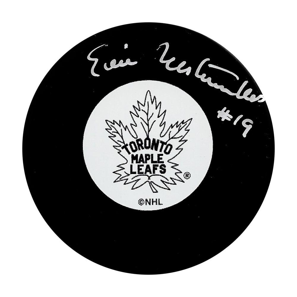 Eric Nesterenko Autographed Toronto Maple Leafs Puck