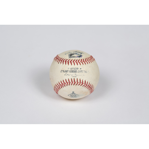 Photo of Game-Used Baseball: Pitcher: Patrick Sandoval, Batter: Chris Taylor - Double - Top 8 - 5/07/21 vs. LAD