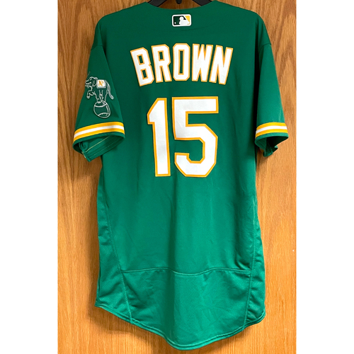 Photo of Seth Brown Game-Used Jersey - 4/16/21, 4/20/21 & 4/21/21 (HR #3)