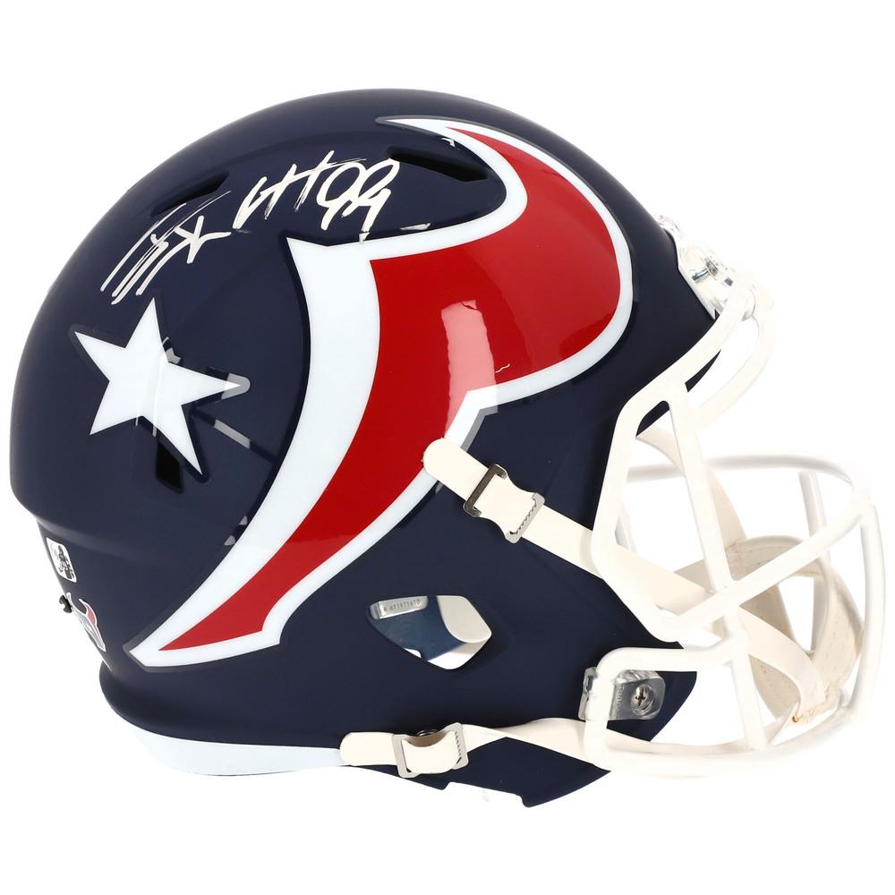 J.J. Watt Houston Texans Autographed Riddell AMP Alternate Speed Replica Helmet