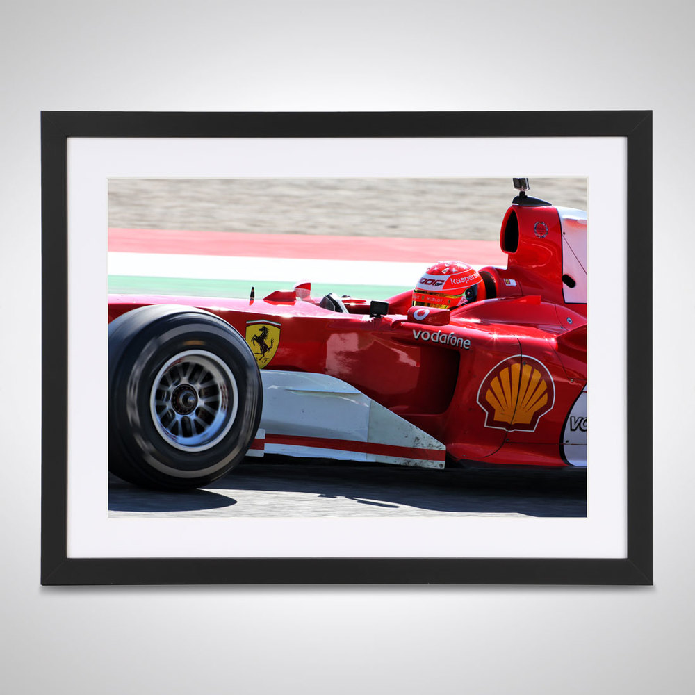 Mick Schumacher 2020 F2 Ferrari Tuscany - James Moy Print
