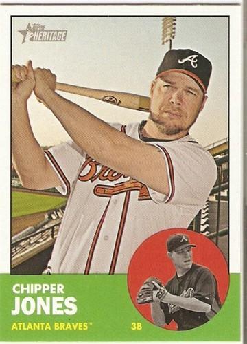 Photo of 2012 Topps Heritage #347 Chipper Jones