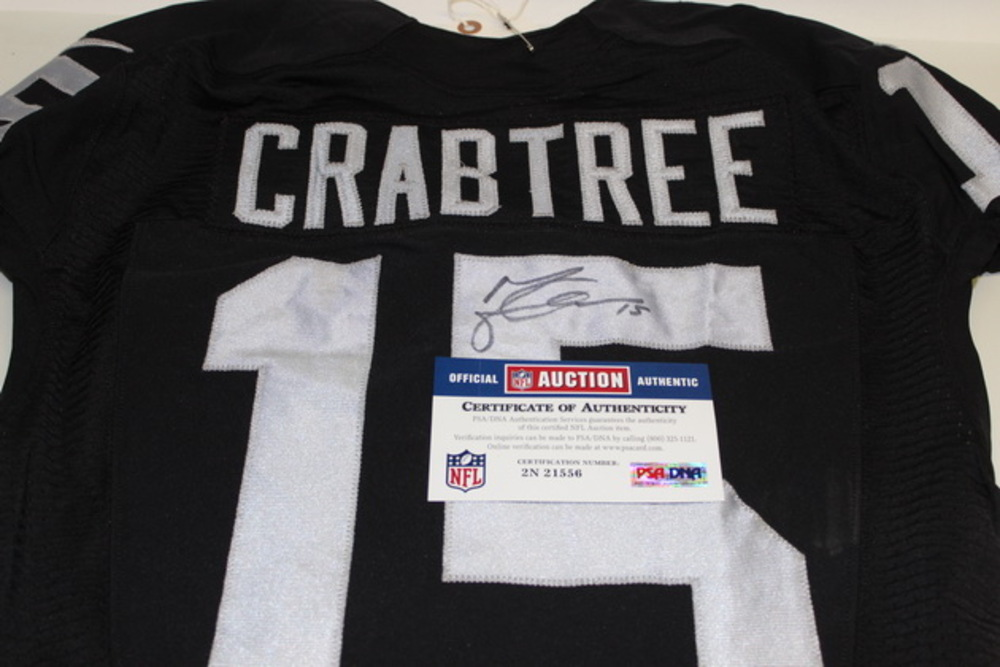 huge discount 4850a aca58 NFL Auction | STS - RAIDERS MICHAEL CRABTREE GAME WORN AND ...