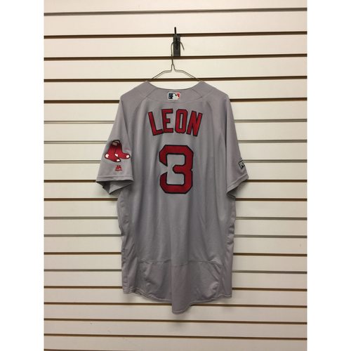 Sandy Leon Game-Used September 28, 2016 Road Jersey