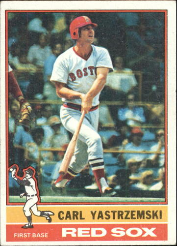 Photo of 1976 Topps #230 Carl Yastrzemski -- Hall of Famer