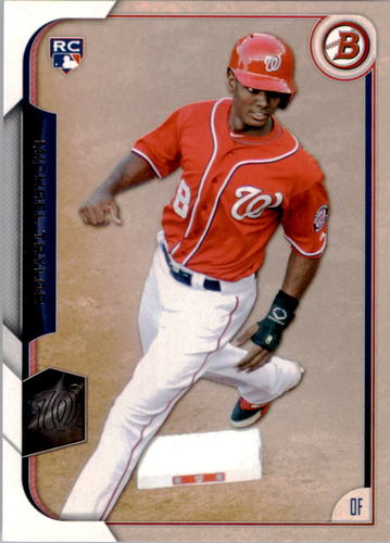 Photo of 2015 Bowman #139 Michael Taylor Rookie Card -- Nationals post-season