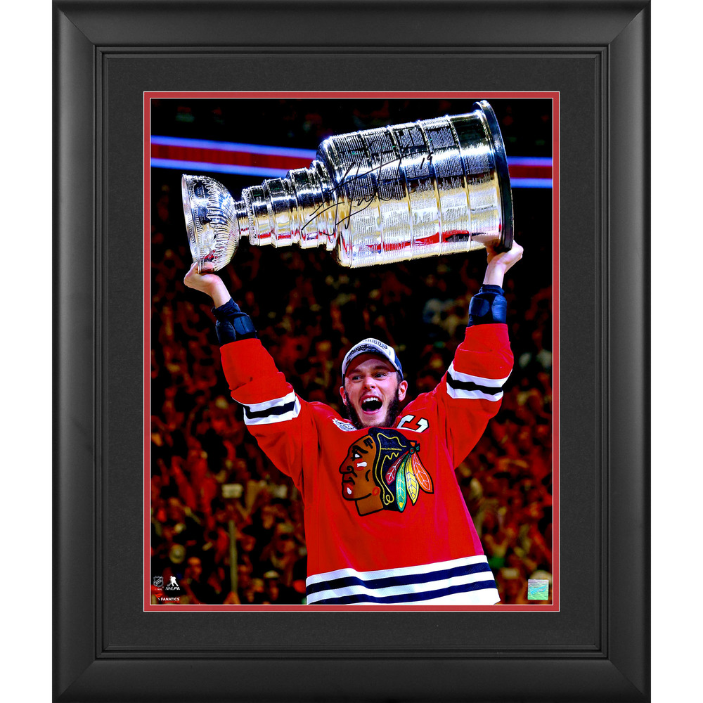 Jonathan Toews Chicago Blackhawks 2015 Stanley Cup Champions Framed Autographed 16