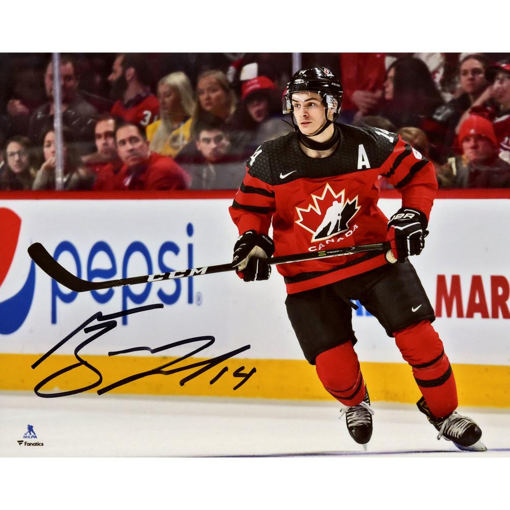 Mathew Barzal Team Canada Autographed 8