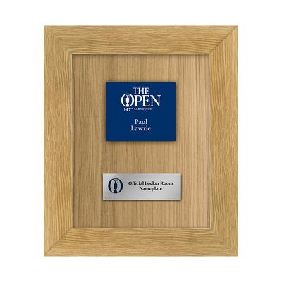 Photo of Paul Lawrie, The 147th Open Carnoustie Locker Room Nameplate Framed
