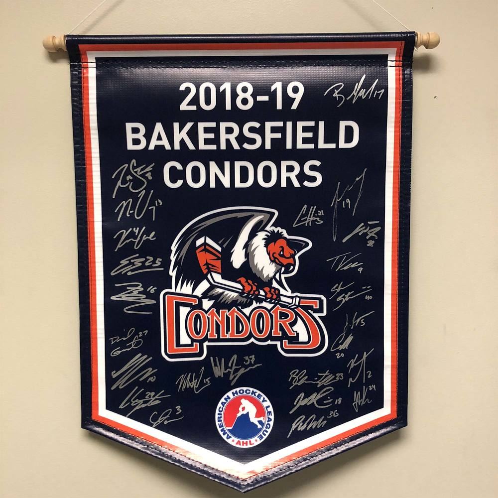 2018-19 Bakersfield Condors Team-Signed Banner