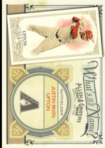 Photo of 2012 Topps Allen and Ginter What's in a Name #WIN97 Justin Irvin Upton