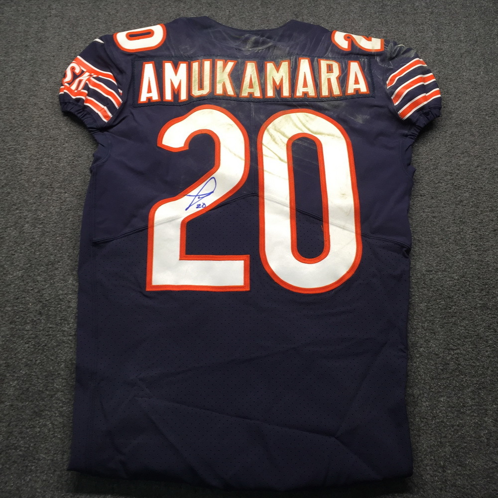 NFL Auction   STS - Bears Prince Amukamara Signed and Game Used ...