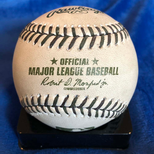 Photo of UMPS CARE AUCTION: 2017 Memorial Day Crew Signed Camouflage Baseball