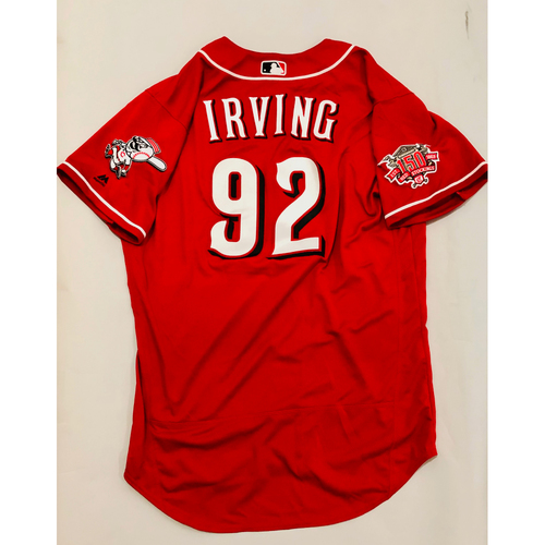 Photo of 2019 Mexico Series Game Used Jersey - Nate Irving Size 46 (Cincinnati Reds)