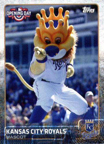 Photo of 2015 Topps Opening Day Mascots #M14 Kansas City Royals