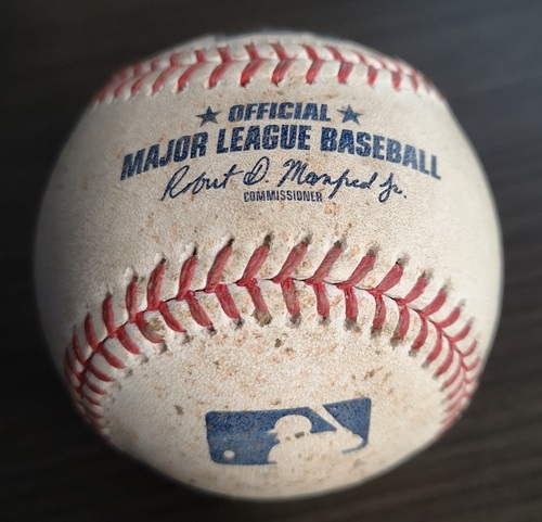 Photo of Authenticated Game Used Baseball: Justin Verlander's 3rd Career No Hitter (Sep 1, 19 vs HOU).