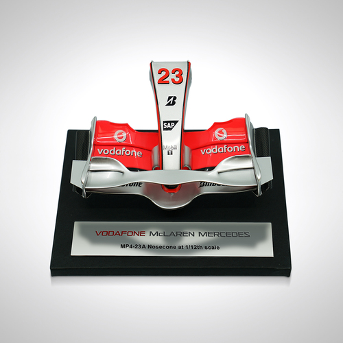 Photo of Heikki Kovalainen 1:12 scale model 2008 Nosecone McLaren Amalgam Collection