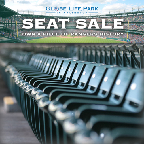 Photo of Globe Life Park Seat Sale - Seat Set Removed During 2019 Offseason