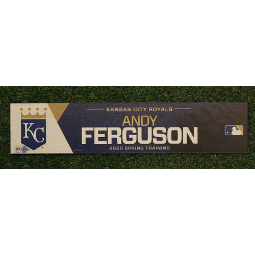 Photo of Game-Used Spring Training Locker Tag: Andy Ferguson
