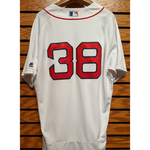 Photo of Rusney Castillo #38 Team Issued Home White Jersey