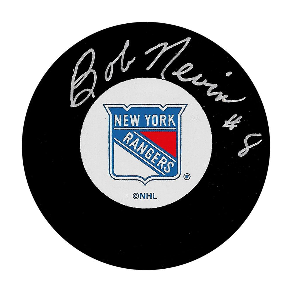 Bob Nevin Autographed New York Rangers Puck