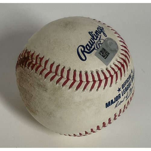 Photo of Game-Used Baseball- Triston McKenzie strikes out both Andrelton Simmons and Luis Arraez- 5/21/2021 Twins at Indians
