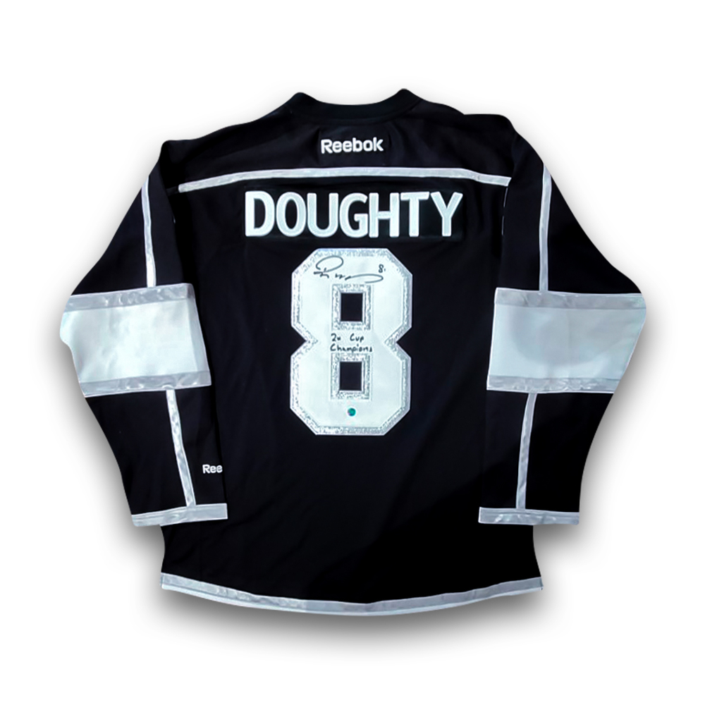 Drew Doughty Signed Los Angeles Kings Replica 2011-2017 Black Reebok Jersey with