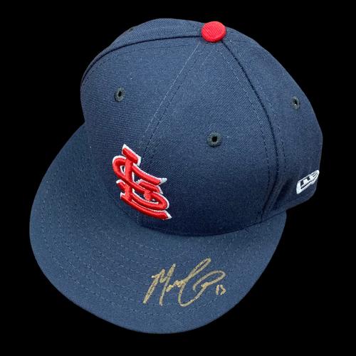 Photo of Matt Carpenter Autographed Team Issued Road Cap (Size 7 1/8)