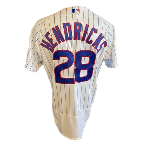 Photo of Kyle Hendricks Game-Used Jersey -- Cardinals vs. Cubs -- 7/10/21 -- Size 46T