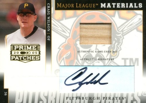 Photo of 2005 Prime Patches Major League Materials Autograph Jersey #25 Craig Wilson/99