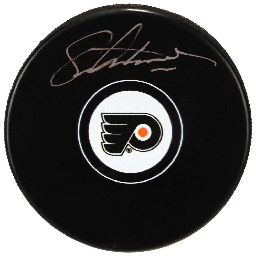 Eric Lindros Philadelphia Flyers Autographed Hockey Puck