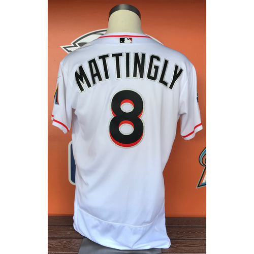 Photo of Don Mattingly 2017 Home Opener Game-Used Jersey - Size 46