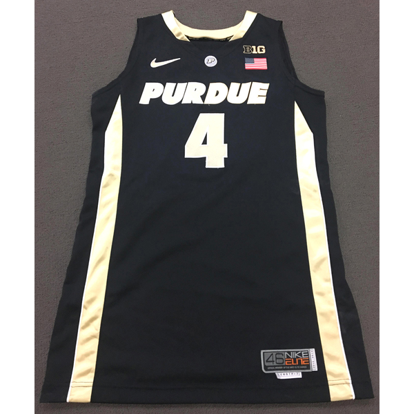 Photo of Thornton #4 Purdue Women's Basketball 2012-13 Black Jersey