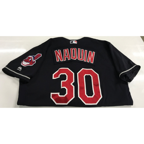 Photo of Tyler Naquin Game-Used 2018 Opening Day Jersey (Road 3/29 @ SEA)