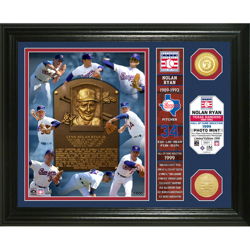 Photo of Nolan Ryan Hall of Fame Banner Bronze Coin Photo Mint