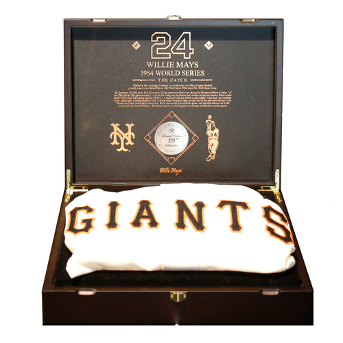 "Photo of San Francisco Giants - Mitchell and Ness Willie Mays ""The Catch"" Collectors Box Set - Limited Edition of 124"