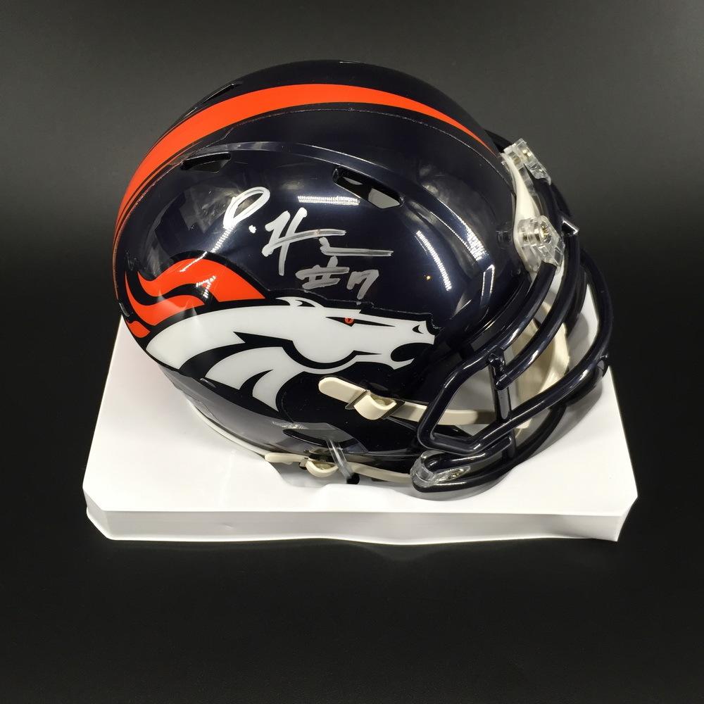 NFL - Broncos DaeSean Hamilton Signed Mini Helmet