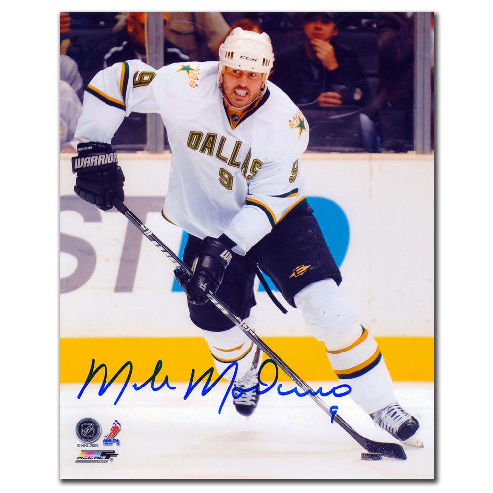 Mike Modano Dallas Stars WHITE JERSEY Autographed 8x10