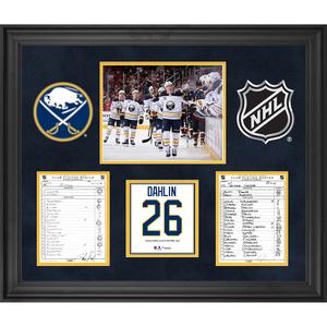 Buffalo Sabres Framed Original Line-Up Cards from October 13 7f5814fed