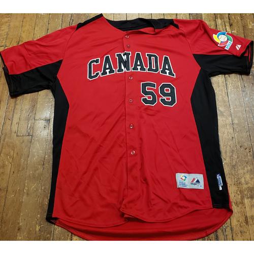 Photo of 2013 World Baseball Classic Game Used Jersey - John Axford - Size 50 (Canada)