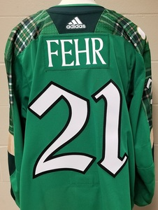 Eric Fehr Minnesota Wild 2019 St. Patty s Day Warm-Up Jersey (Size 58)Eric  Fehr Minnesota Wild 2019 St. Patty s Day Warm-Up Jersey (Size 58) 45d481a1a