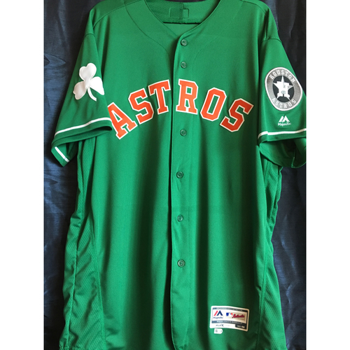 Photo of J.B. Bukauskas #69 2019 Team-Issued Green St. Patrick's Day Jersey
