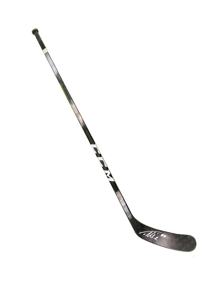 #28 Timo Meier Game Used Stick - Autographed - San Jose Sharks