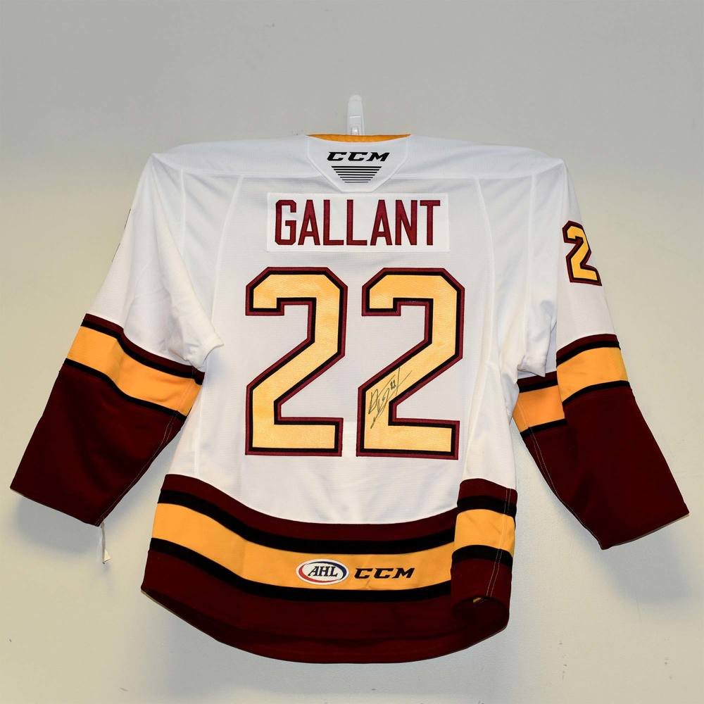 Chicago Wolves 2019 Calder Cup Finals Game 1 Jersey Issued and Signed by #22 Alex Gallant
