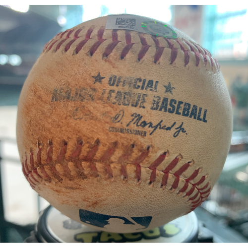Photo of 2019 Game-Used Baseball 9/12/19 Astros vs. A's: Homer Bailey to Robinson Chirinos-Bottom 3rd (Single to RF)