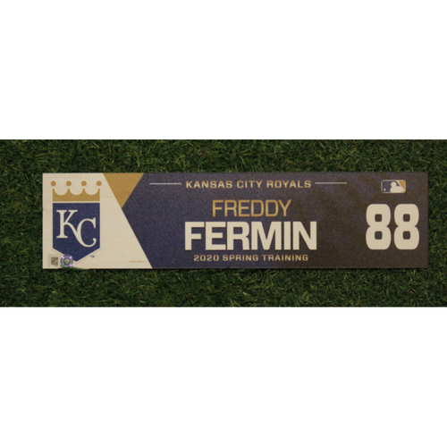 Photo of Game-Used Spring Training Locker Tag: Freddy Fermin #88
